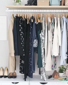 Here are the five steps we're taking to get a grown-up (and organized) bedroom closet.