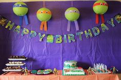 Name: Owen, 5 Location: Wimberley, TX Owen's 5th birthday party was scheduled for the week we planned to move to another city. But his favorite thing in the world (right now) is Teenage Mutant Ninja Turtles, and he was set on that as a birthday party for at least six months before the party. So we had to bump things up two weeks.
