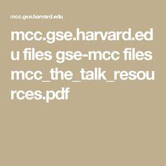 mcc.gse.harvard.edu files gse-mcc files mcc_the_talk_resources.pdf