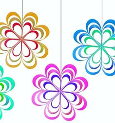 ❤ Egyszerű papír csík virágok - tavaszi függő ablakdekoráció ❤Mindy -  kreatív ötletek és dekorációk minden napra
