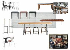 Industrial Styling Bench & Stool Group Seating Coffee Table & Chair seating Metallic