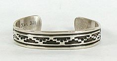 Native American Navajo Mary and Ken Bill Sterling Silver bracelet
