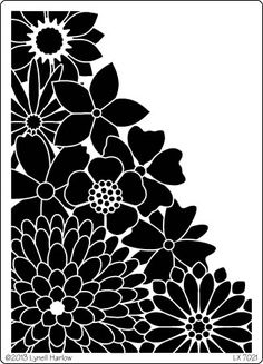 Dreamweaver Stencils - I need to use my embossing paints and paint with more often. Love this corner style! Stencil Templates, Stencil Patterns, Stencil Designs, Paper Art, Paper Crafts, Silhouette Cameo Projects, Motif Floral, Paper Cutting, Screen Printing