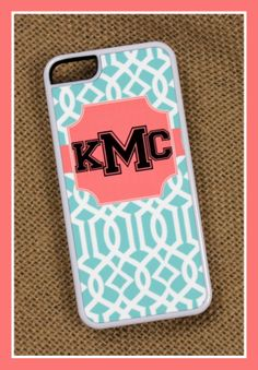 5c iPhone Case Monogrammed Personalized Mobile by ChicMonogram, $22.00