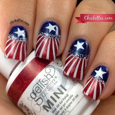 I am unfolding before you 20 best fourth of jolly nail art designs, ideas, trends & stickers of these of July nails are stunning to be applied. Nail Art Designs, Fingernail Designs, Nail Polish Designs, Fancy Nails, Love Nails, How To Do Nails, Pretty Nails, Sexy Nails, Stiletto Nails