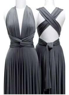 Previous Next twobirds Convertible Jersey Dress…There must be 50 ways to wear this dress! Twobirds Convertible Jersey Dress … There must be 50 ways to wear this dress! Two Birds Bridesmaid, Grey Bridesmaids, Grey Bridesmaid Dresses, A Line Prom Dresses, Formal Dresses, Multiway Bridesmaid Dress, Infinity Dress Bridesmaid, Infinity Dress Styles, Infinity Dress Ways To Wear