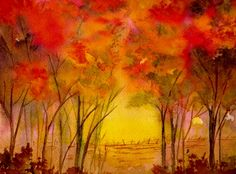"Landscape Painting Watercolor...""Walk With Me"" by Brenda Owen"