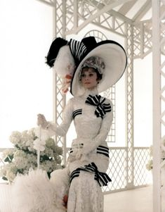 Photo of Audrey as Eliza Doolittle for fans of Audrey Hepburn.