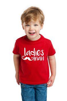 Valentine's Day Shirt for Kids or Toddlers Ladies Man by ZCDGifts