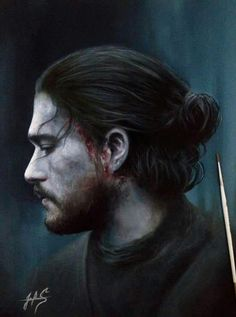 King in the North, Jon Snow. Game of thrones fan art Game Of Thrones Movie, Game Of Thrones Artwork, Game Of Thrones Fans, Winter Is Here, Winter Is Coming, Jon Schnee, Jon Snow, King In The North, My Sun And Stars