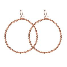 Rose Gold Hoops // $22 http://www.rethreaded.com/collections/purpose-jewelry/products/rosegoldhoops