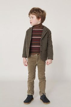 Tweed jacket and knitted sweater - Caramel Baby Child Little Boy Fashion, Kids Fashion Boy, Baby Boy Outfits, Kids Outfits, Boys Clothes Sale, Kids Clothing, Caramel Baby, Kids Wear, Kids Boys