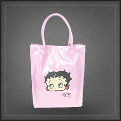 Grand sac à main Betty Boop de type shopping cabas d'une très belle couleur rose.
