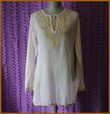 Anthropologie Blouse By Joie Size XS Floral Embroidery Bohemian Tunic Casual