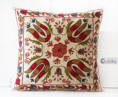 https://www.etsy.com/listing/180456993/suzani-pillow-vintage-handmade-home Suzani Pillow Vintage Handmade Home decor Hand by pillowcome, $64.00
