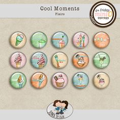 SoMa Design: Cool Moments - Flairs Digital Scrapbooking, In This Moment, Kit, Cool Stuff, Design