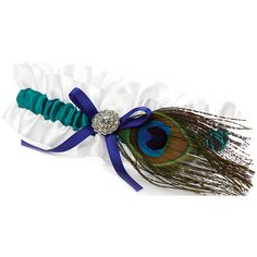 2@bePeacock Feather Garter