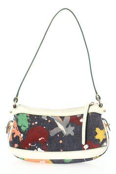 Dooney&Bourke Denim Paint Splatter Shoulder Bag  - $32