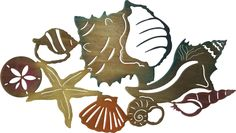 "Artwork by Neil Rose. This elaborate metal wall art will make the perfect addition to your beach, wharf, ocean or sea decor. Measurements: 24"" width x 14"" height Color Finish: Color Wash Crafted by ar"