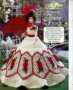 Damen Mode Rebecca Party Frock Modepuppe von grammysyarngarden