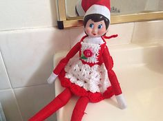 Elf on the Shelf Apron by Selena Wallace