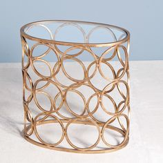 Interlude Home Brigit Circle Side Table - Gold
