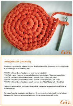 patrón cesta trapillo www.calacoru.com/2013/04/tutorial-cesta-trapillo.html