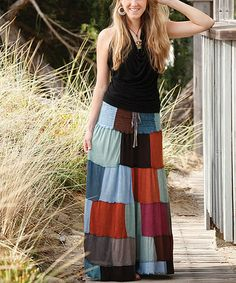 Another great find on #zulily! Teal & Green Patchwork Convertible Skirt by Jayli #zulilyfinds