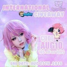 Weekly giveaway of Ebisu Kofuku Cosplay Wig,how do you love this prize ?  1…