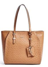 GIA OSTRICH-EMBOSSED TOTE