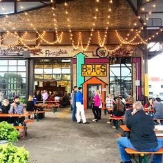 Bauhaus' bright taproom is bursting with their rotating menu of microbrews, and features regular events. Food trucks stop by regularly - try to resist slipping your pooch a bite.