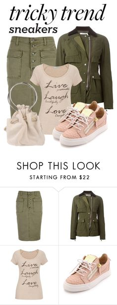 """""""Pencil Skirts & Sneakers"""" by fantasiegirl ❤ liked on Polyvore featuring J Brand, Altuzarra, maurices and Giuseppe Zanotti"""