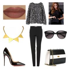 """""""GONNA GET THIS"""" by laura-melissa-cortes on Polyvore featuring moda, Zara Taylor, Victoria Beckham, Christian Louboutin, Chanel, Derriére y Identity"""