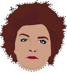 "Red - Print Out These ""Orange Is The New Black"" Masks. My favorite ex-Star Trek captain Kate Mulgrew!!!"