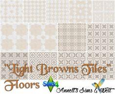 """Annett`s Sims 4 Welt: Floors """"Light Browns Tiles"""" • Sims 4 Downloads"""