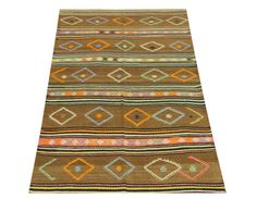 Turkish Vintage Kilim rug 78x41 feet Area rug Cicim by Damgadecor