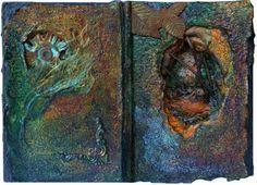 'Echidna' altered book interior / by Joy Bathie / http://www.pinterest.com/joybathie/my-own-arty-stuff