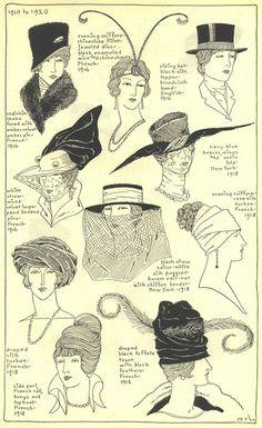 Gli Arcani Supremi (Vox clamantis in deserto - Gothian): Pettinature, acconciature, cappelli e moda durante e dopo la Belle Epoque (1910-1920)