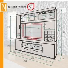 40 Cool TV Stand Dimension And Designs For Your Home – Engineering Discoveries – designer furniture Tv Cabinet Design, Tv Unit Design, Tv Wall Design, Tv Unit Furniture, Furniture Design, Tv Wanddekor, Home Engineering, Modern Tv Wall Units, Tv Stand Designs