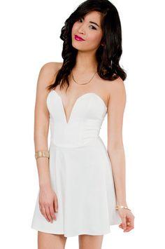 Deep in Love Sweetheart Dress $37 at www.tobi.com
