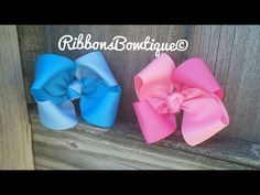 HOW TO make a basic boutique hair bow 3.5 inches with 1.5 wide ribbon - YouTube