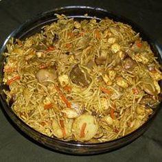 Tonight's dinner.   Singapore Noodles Allrecipes.com