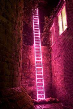 Imagen de pink, neon, and light