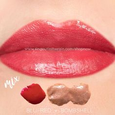 Learn to mix it up.  Use LipSense Mixology to create this Blu Red & Bombshell LipColor that just screams spring.  Make sure to premix to achieve this look. #lipsense #mixitup
