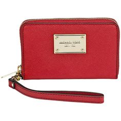 Michael Kors Wallet and Phone Case, Red