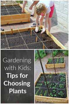 Vegetable gardening with kids. Choosing plants and planting together for family fun and food. It's gotten them to try new foods - less picky eaters now! A big win! Planting Vegetables, Vegetable Gardening, Veggie Gardens, Gardening For Beginners, Gardening Tips, Gardening With Kids, Preschool Garden, Kids Garden Crafts, Earth Day Crafts
