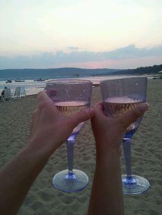 Wine on the beach:-)