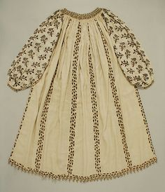 "Late 16th century Italian ""blouse"", made with silk, linen, metal thread"
