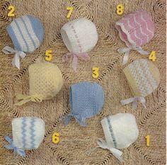 Babies Bonnets A4 PDF Reformatted Vintage by NostalgiaPatterns