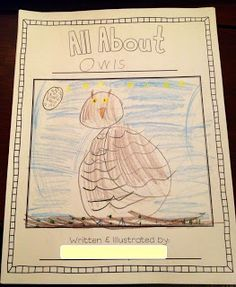 "All About Owls! Students create their own ""All About Books"" to help them with non-fiction text features and informative writing!"